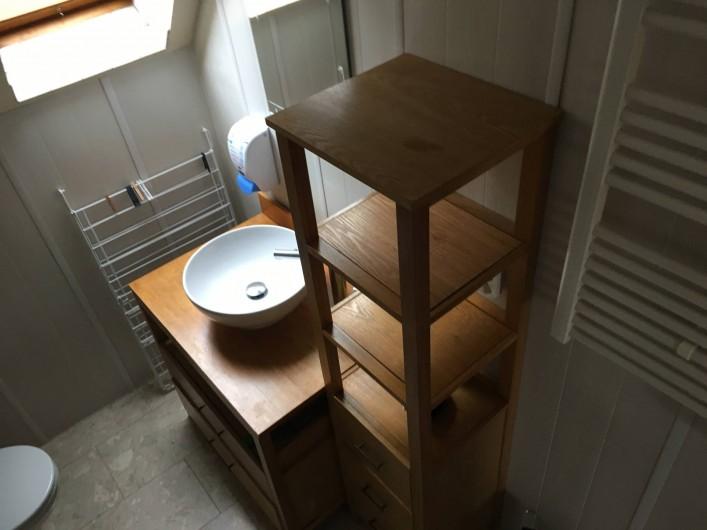 Location de vacances - Appartement à Orschwiller - Salle de bain coté DUPLEX