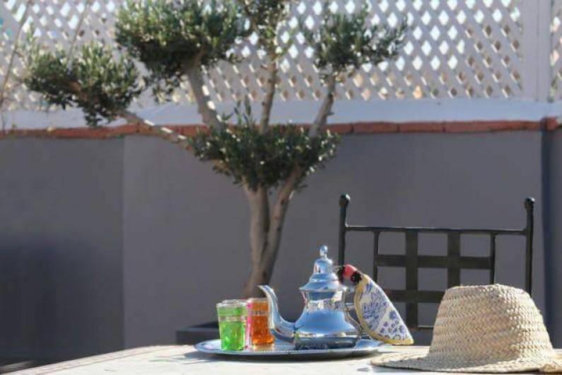 Location de vacances - Riad à Marrakech - Tea Time on the Rooftop