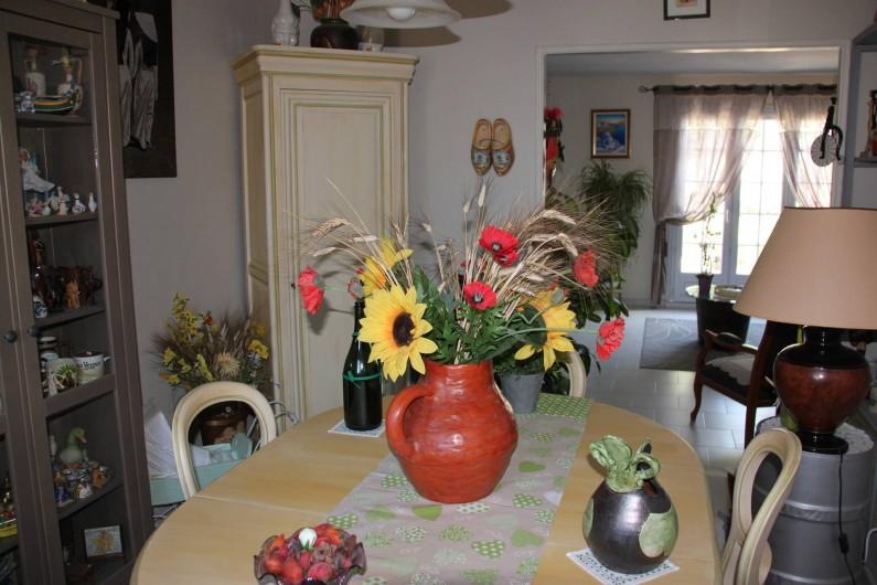 Location de vacances - Villa à Monteux - SALLE A MANGER table/chaises 6 places