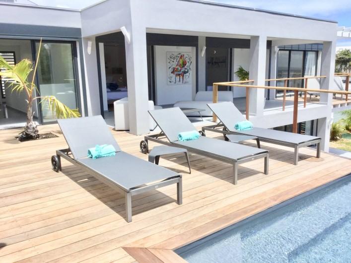 Location de vacances - Villa à Sainte-Anne - terrasse du haut
