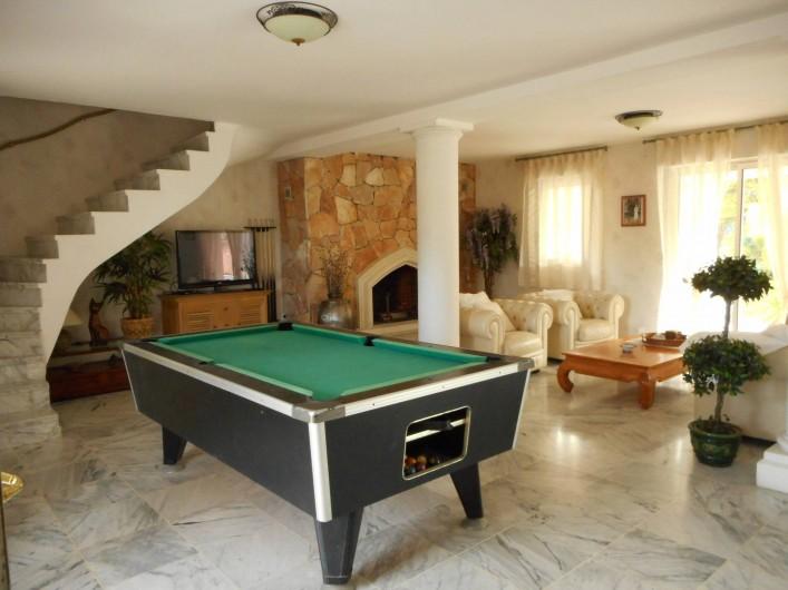 Location de vacances - Villa à Roquebrune-sur-Argens - Billard US + TV sat