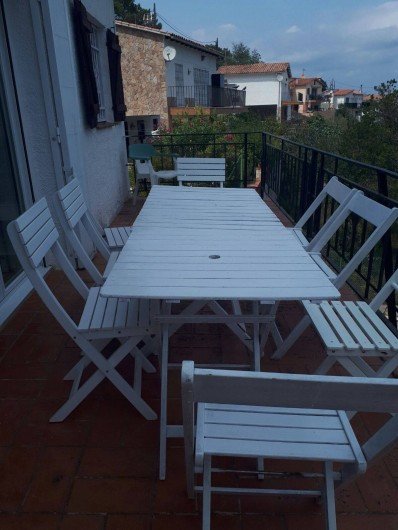 Location de vacances - Villa à Lloret de Mar - terrasse du haut