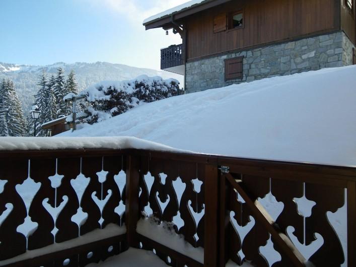 Location de vacances - Appartement à Les Carroz d'Arâches - vue de la terrasse