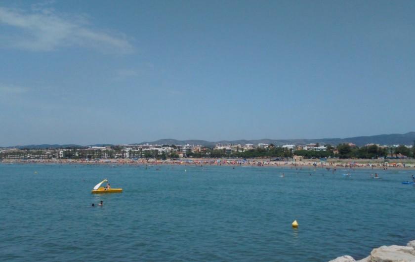 Location de vacances - Appartement à Vilanova i la Geltrú - chambre 1  double lit 1'35 x 1'80