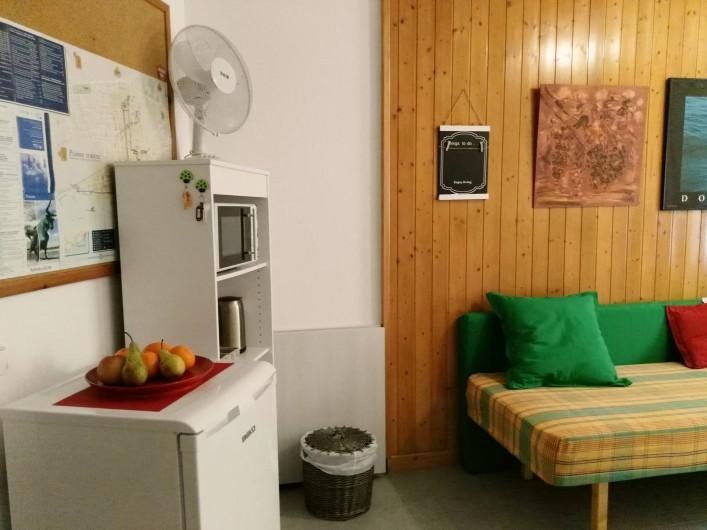Location de vacances - Appartement à Vilanova i la Geltrú - canapé lit 130 x 190 et simpler lit  0'80 x 1'80