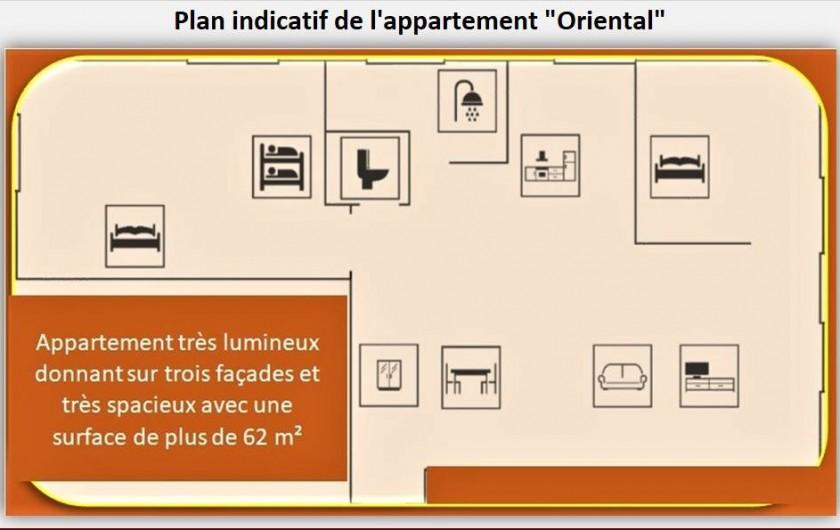 Location de vacances - Appartement à Eaux-Bonnes - Plan indicatif
