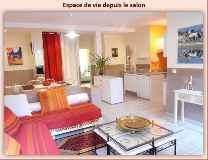 Location de vacances - Appartement à Eaux-Bonnes - Salon avec deux couchages de 80 x 190