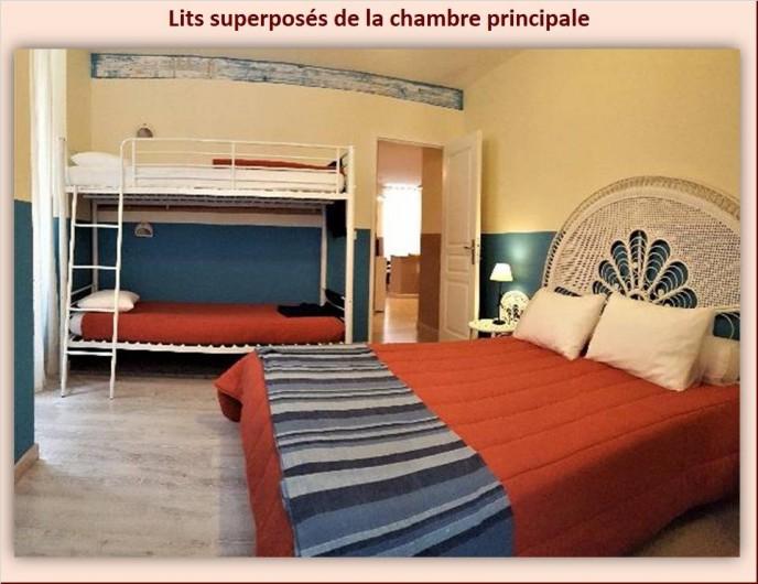 Location de vacances - Appartement à Eaux-Bonnes - Chambre principale avec lit superposé