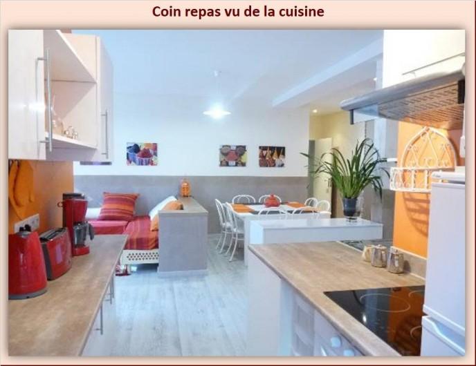 Location de vacances - Appartement à Eaux-Bonnes - Vue à partir de la cuisine
