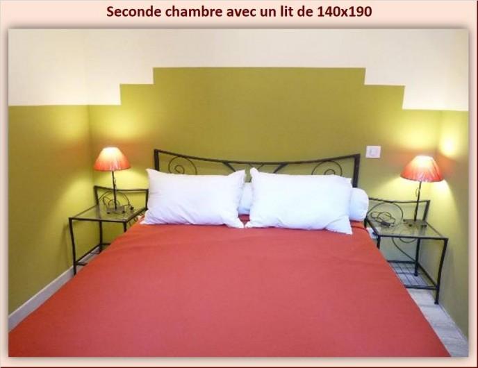 Location de vacances - Appartement à Eaux-Bonnes - Seconde chambre avec lit de 140 x 190
