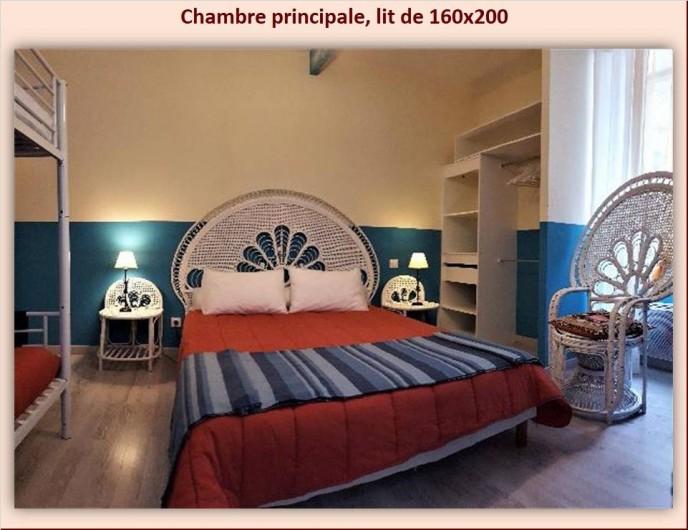 Location de vacances - Appartement à Eaux-Bonnes - Lit de 160 x 200 dans la chambre principale