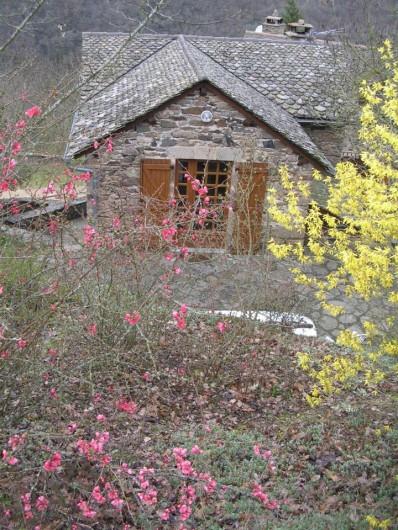 Location de vacances - Gîte à Saint-Victor-et-Melvieu - entrée du haut au printemps