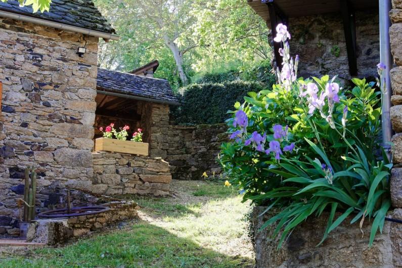 Location de vacances - Gîte à Saint-Victor-et-Melvieu - fleurs de juillet devant chambre 2