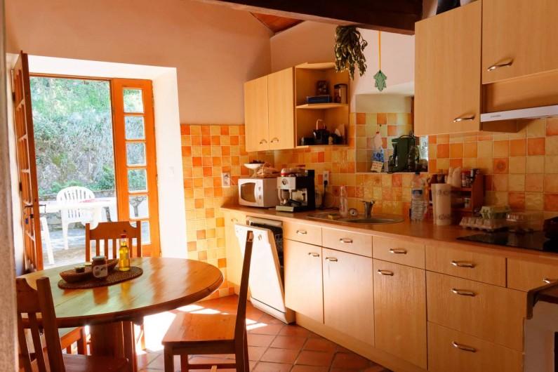 Location de vacances - Gîte à Saint-Victor-et-Melvieu - cuisine intégrée très bien équipée