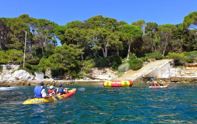 Location de vacances - Villa à La Roquette-sur-Siagne - Kayak au cap d'Antibes