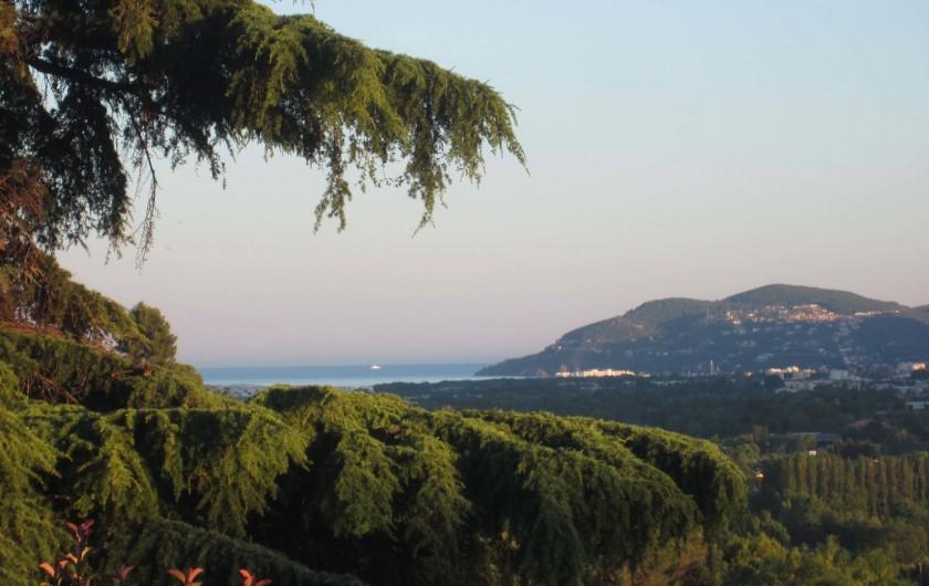 Location de vacances - Villa à La Roquette-sur-Siagne - Vue depuis la villa