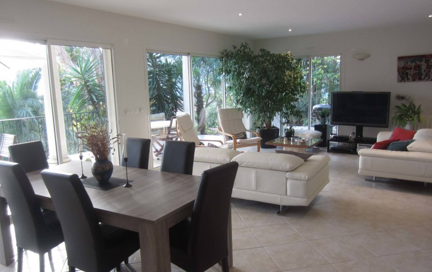 Location de vacances - Villa à La Roquette-sur-Siagne - Salon