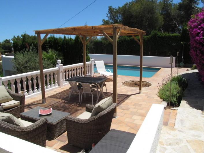 Location de vacances - Villa à Xàbia - Terrasse niveau piscine