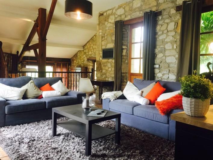Location de vacances - Villa à Sauvelade - Salon convivial