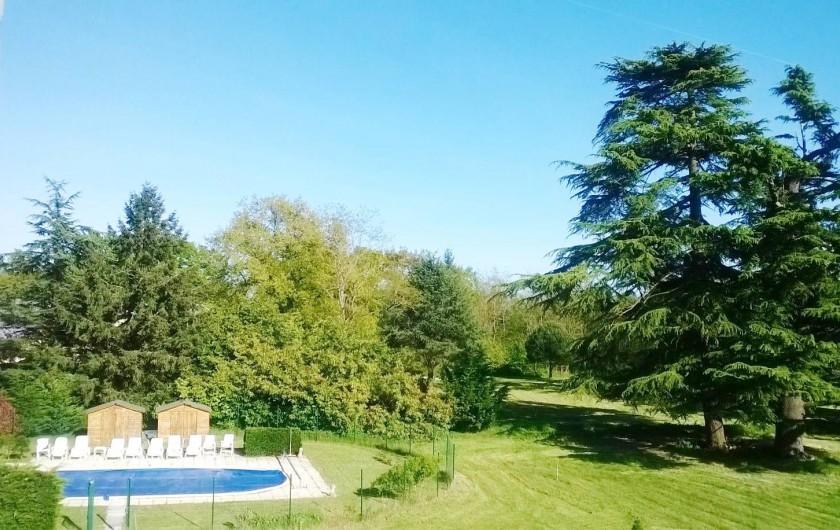Location de vacances - Château - Manoir à Saint-Denis-de-l'Hôtel - piscine