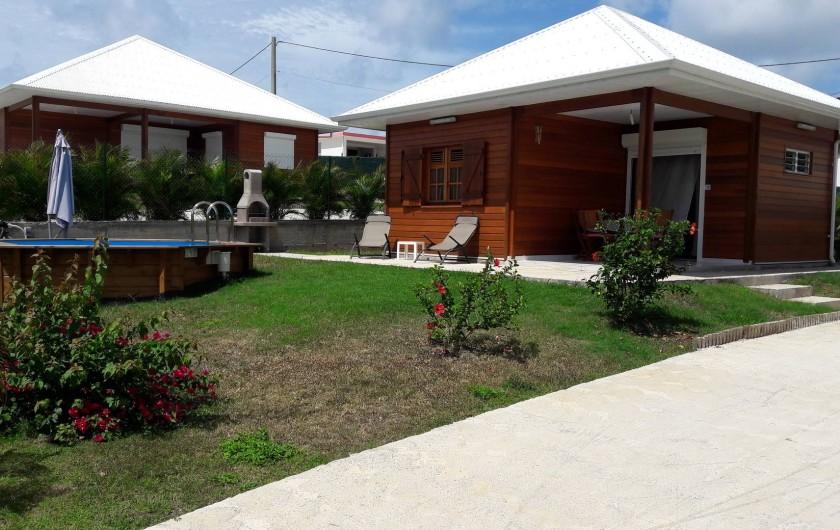 Location de vacances - Villa à Saint-François - Propriété composée de 3 villas créoles