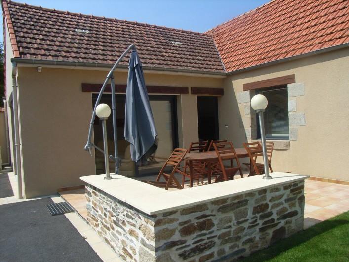 Location de vacances - Maison - Villa à Lanmeur - vue terrasse