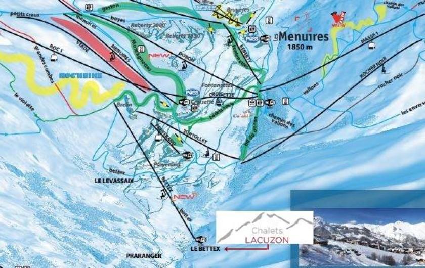 Location de vacances - Chalet à Les Menuires - Télésiège à 150m des chalets- montée en 7 min aux Menuires