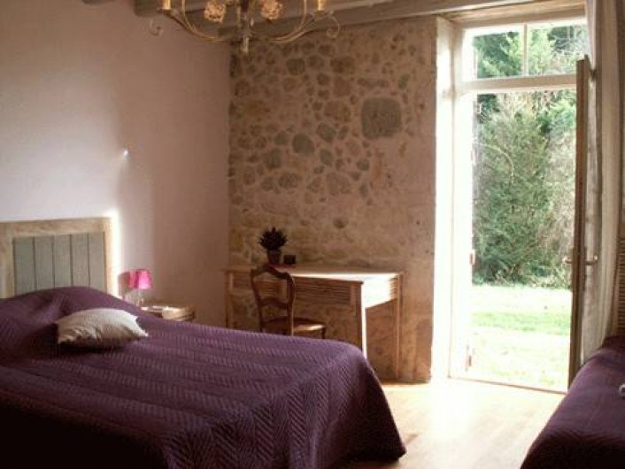 Location de vacances - Chambre d'hôtes à Réaup-Lisse - La chambre Mauve