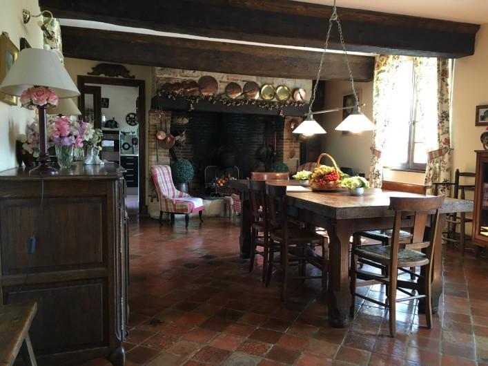 Location de vacances - Château - Manoir à Le Mesnil-sur-Blangy - Salle à manger