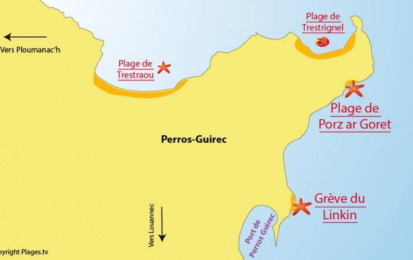 Location de vacances - Appartement à Perros-Guirec - Localisation a Coter du linquin
