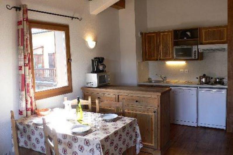 Location de vacances - Appartement à Aussois - Séjour : Coin cuisine/repas