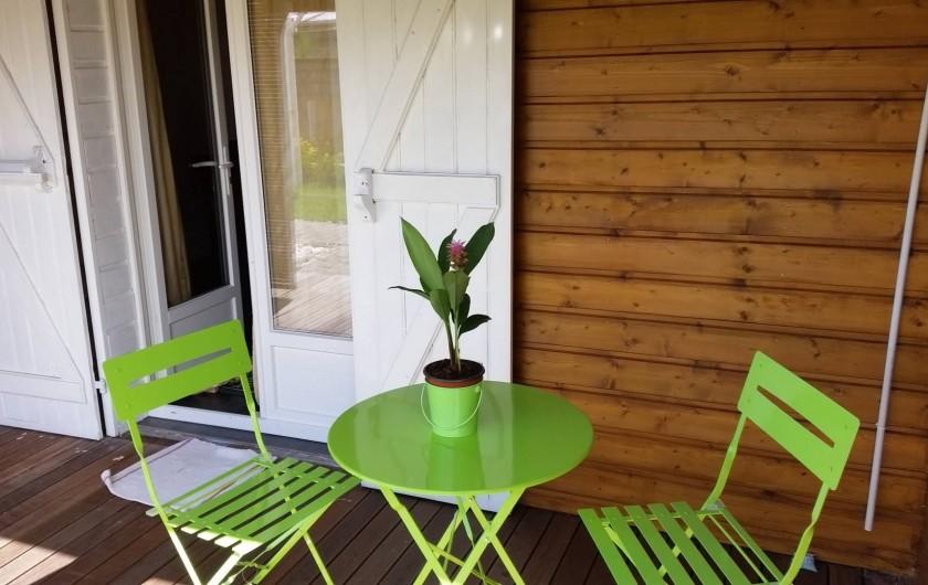 Location de vacances - Chalet à Le Tampon - Terrasse bien exposé pour les petits déjeuners