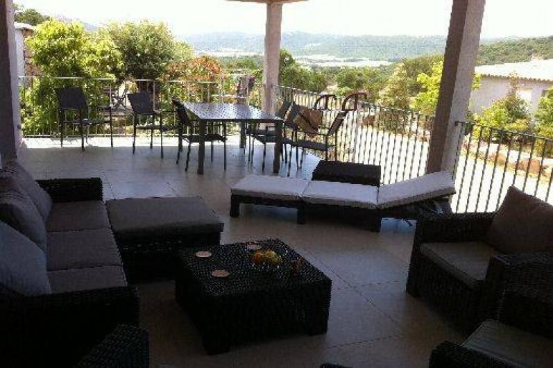 Location de vacances - Villa à Porto-Vecchio - Trop top aussi notre terrasse