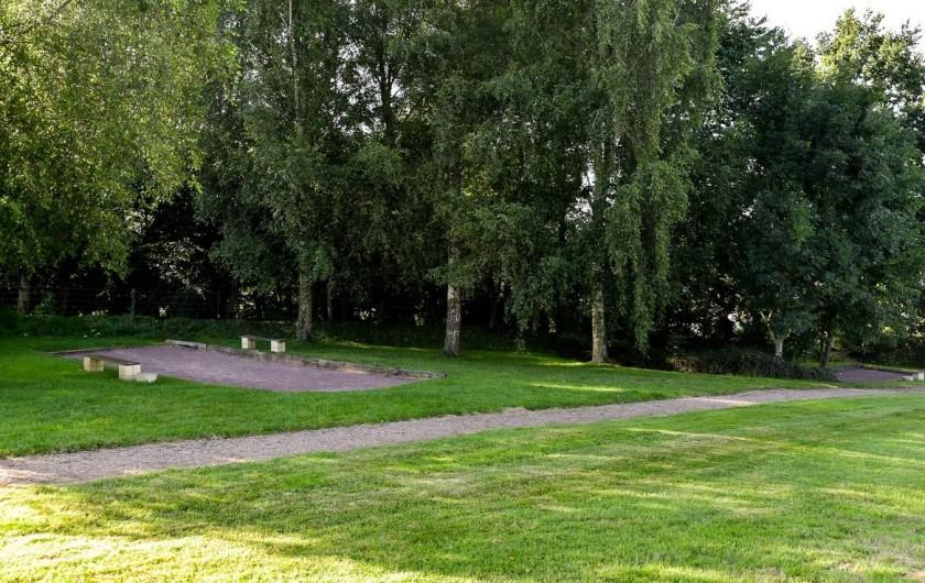 Location de vacances - Bungalow - Mobilhome à Le Bourg-Dun - terrain de boule