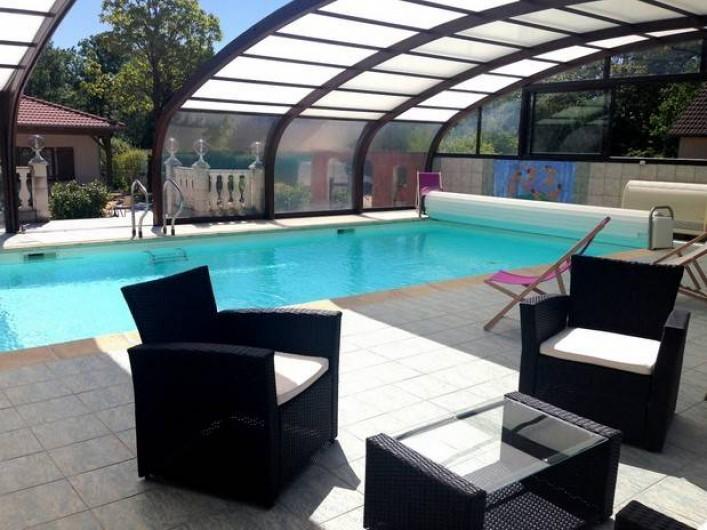 Location de vacances - Hôtel - Auberge à Lamarche-sur-Saône - Piscine