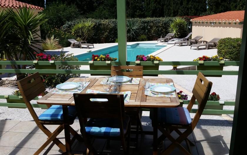 Location de vacances - Gîte à Saint-Cyprien - terrasse Gite 1