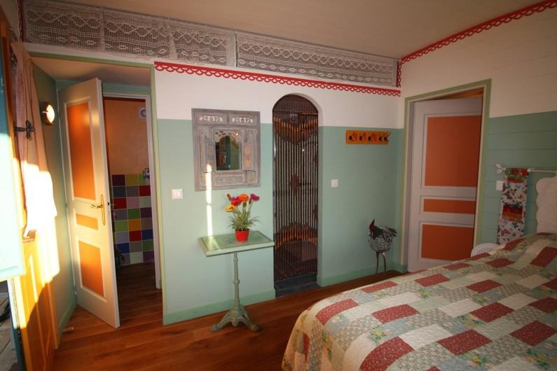 Location de vacances - Roulotte à Aniane - chambre Mariposa
