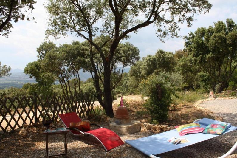 Location de vacances - Roulotte à Aniane - côté ouest farniente