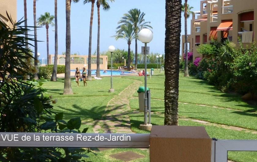 Location de vacances - Appartement à Dénia - Vue de la Terrasse Rez-de-Jardin