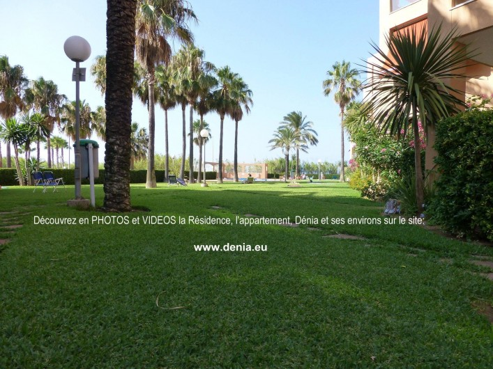 Location de vacances - Appartement à Dénia - Jardin paysagé