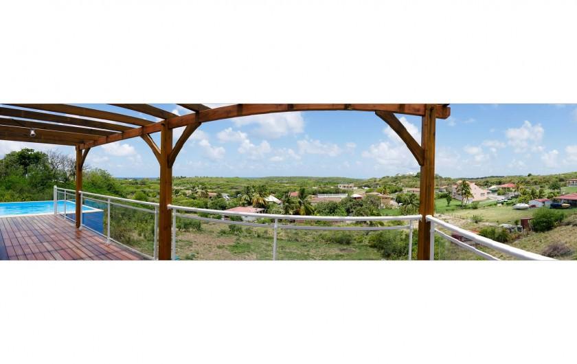Location de vacances - Villa à Sainte-Anne - Villa sans vis à vis,en hauteur et très calme.