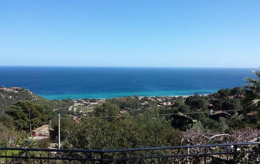 Location de vacances - Villa à Costa Rei - Vue de Costa Rei depuis la terrasse
