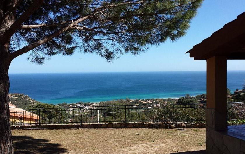 Location de vacances - Villa à Costa Rei - vue de la terrasse