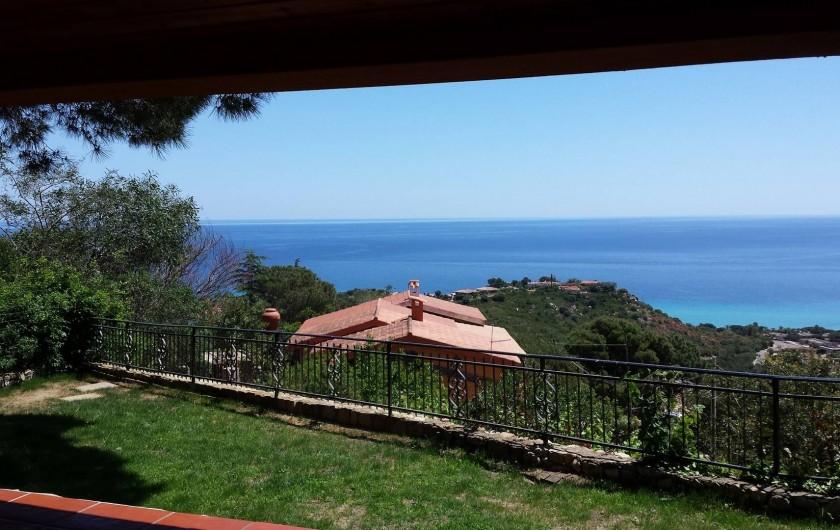 Location de vacances - Villa à Costa Rei - vue de la terrasse - veranda