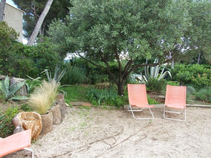 Location de vacances - Appartement à Carry-le-Rouet - jardin avec vue sur mer