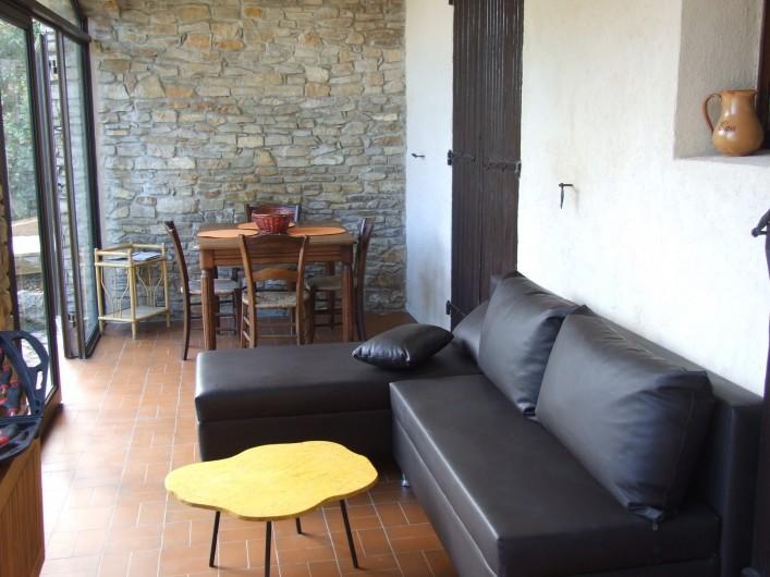 Location de vacances - Appartement à Carry-le-Rouet - Loggia coin détente