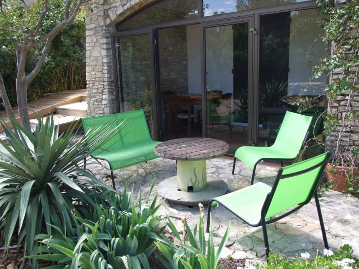 Location de vacances - Appartement à Carry-le-Rouet - Salle à manger Coin Séjour