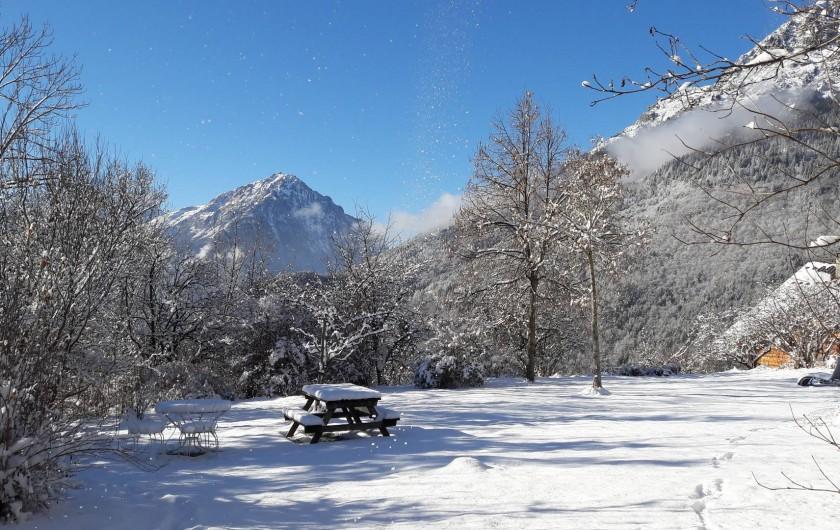 Location de vacances - Chalet à Vaujany - Garden in winter