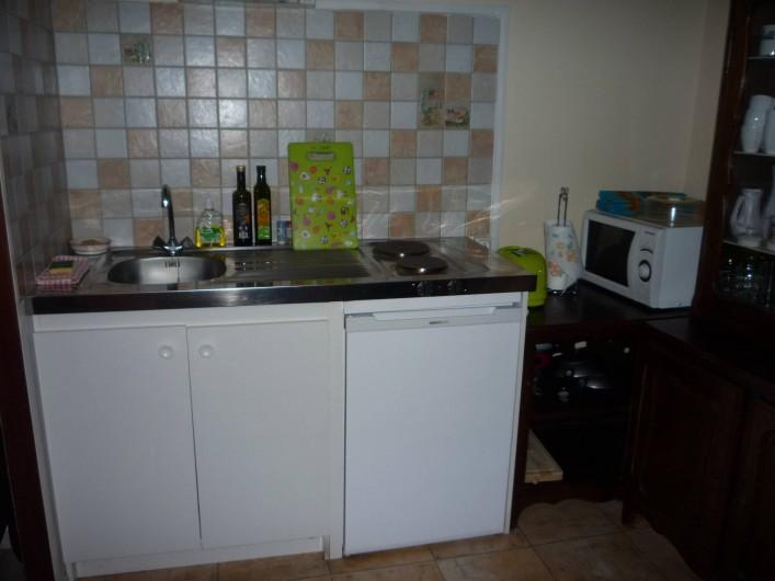 Location de vacances - Chambre d'hôtes à Saint-Martin-Cantalès - Coin cuisine dans la salle commune