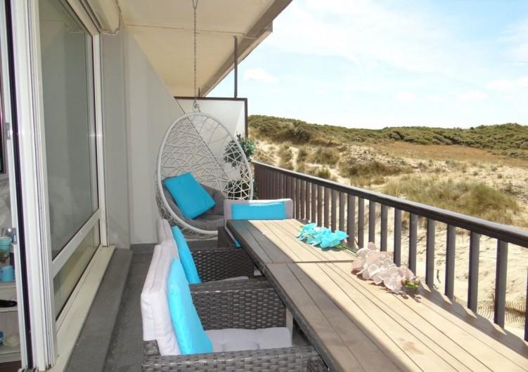 Location de vacances - Appartement à Fort-Mahon-Plage - Vue dunes et forêt.  Accès direct à la plage.